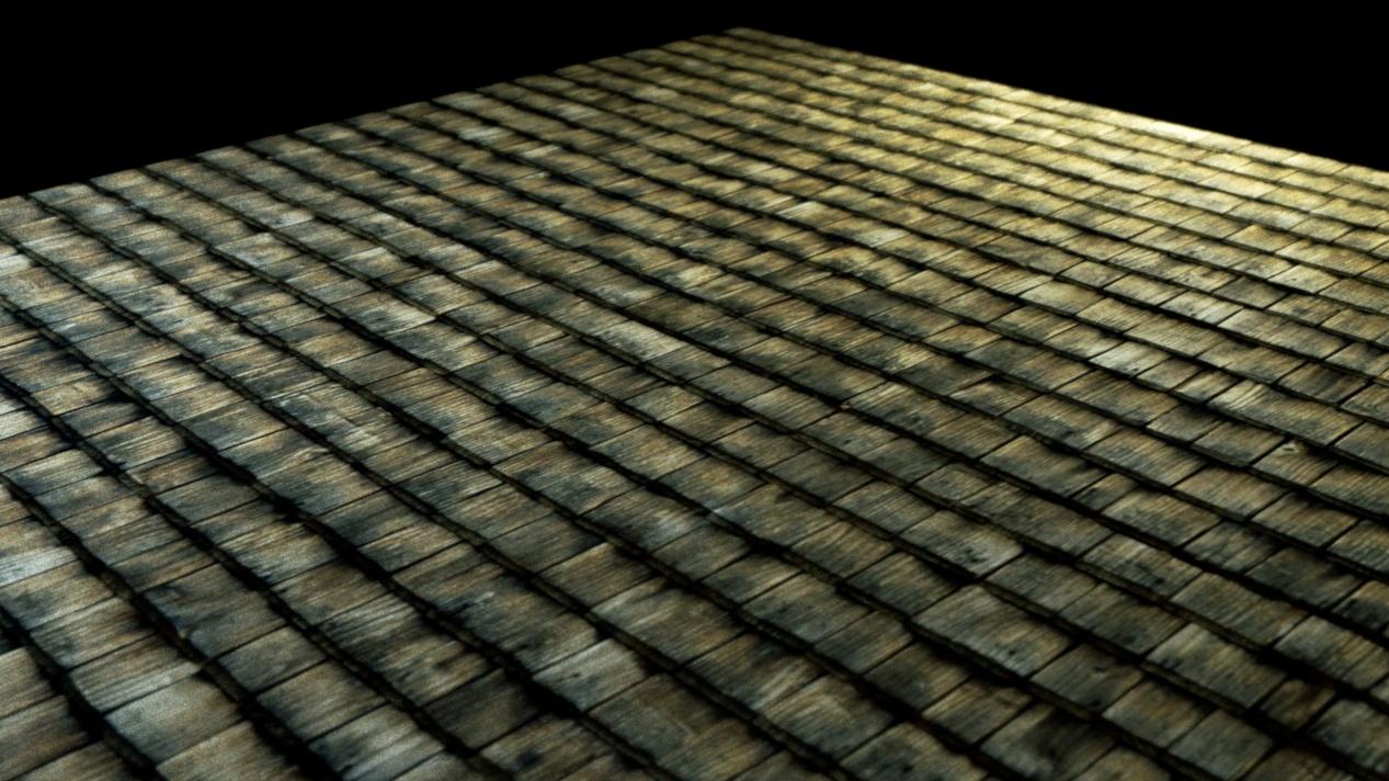 Wooden Roof Tiles Material Database Indigo Renderer