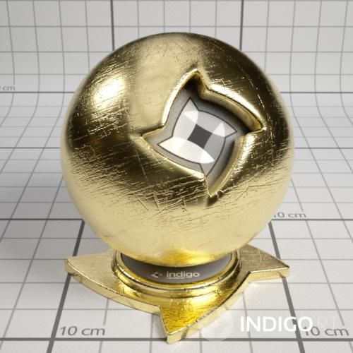 Scratched Gold | Material database | Indigo Renderer
