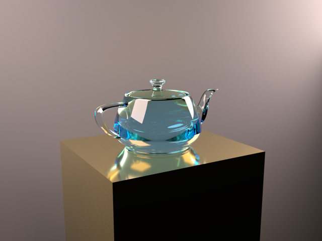 Scene with glass teapot