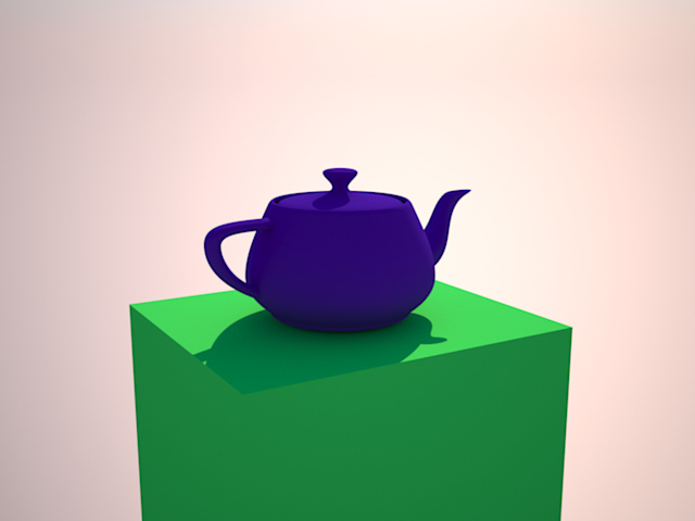 Teapot rendered with sun/sky illumination