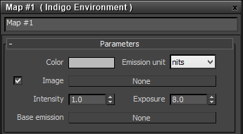 Indigo Environment map settings