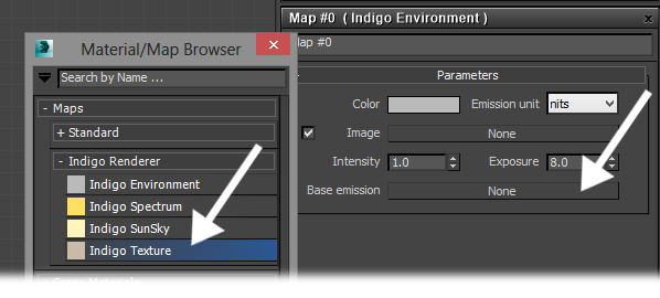 Adding an Indigo Texture map to the Environment map