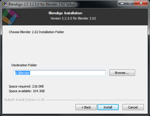 Blendigo installer should detect install path