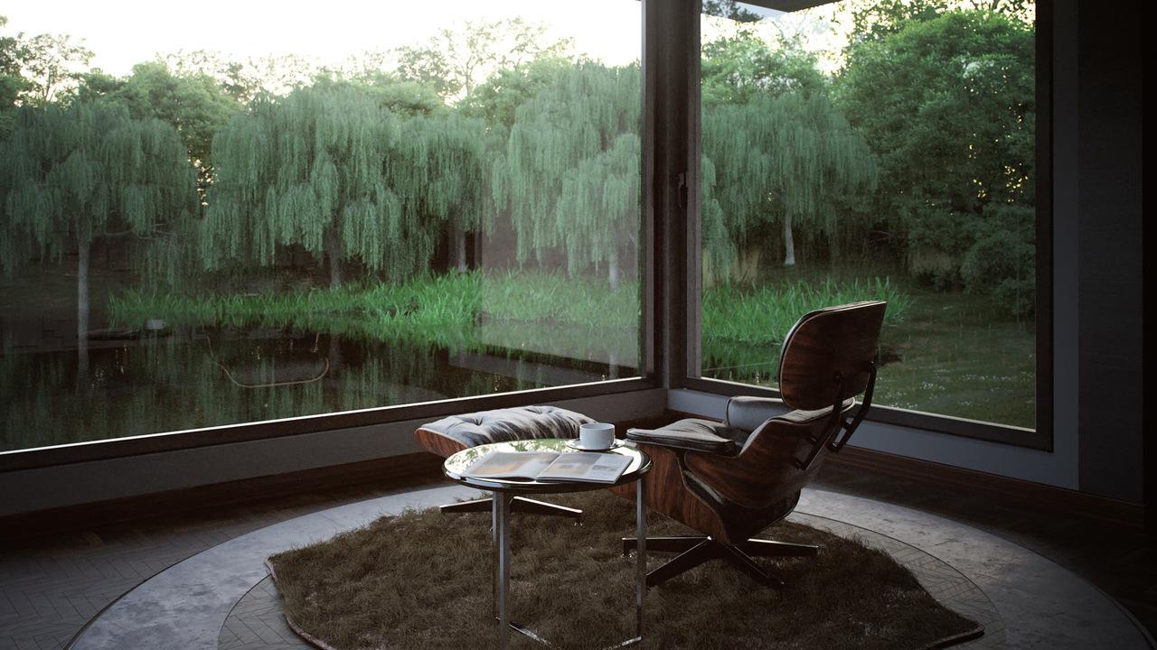Concrete house-interior