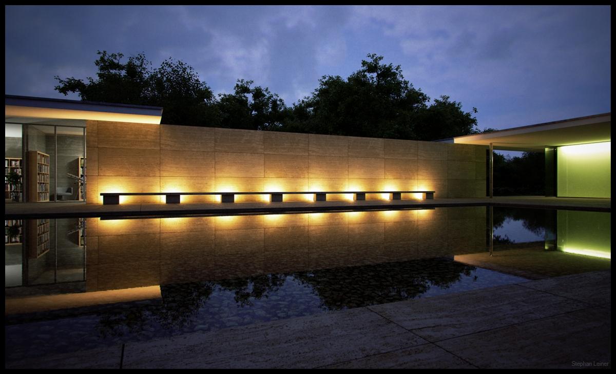 Barcelona pavillon 4 indigo renderer for Home design agency barcelona