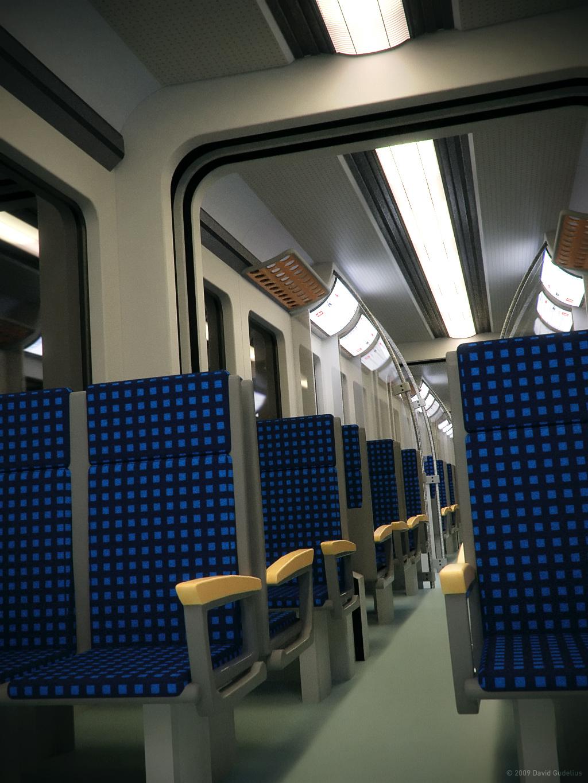 Empty ET-425 Train By Night