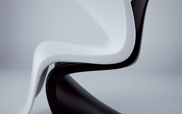 Studio render- Panton Chair