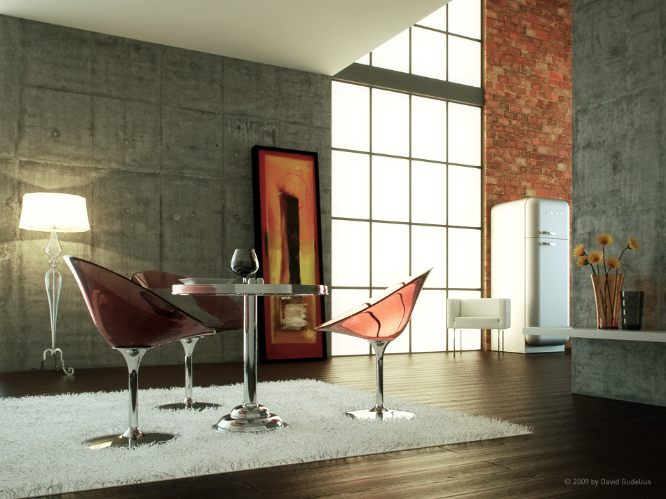 Vrayforc4d testscene revisited with indigo indigo renderer for Vray interior scene