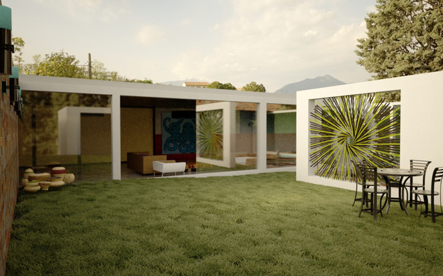 inside garden
