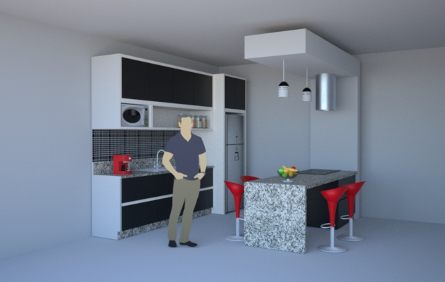 Setting up interior lights mixed with sun+sky lighting | Indigo Renderer