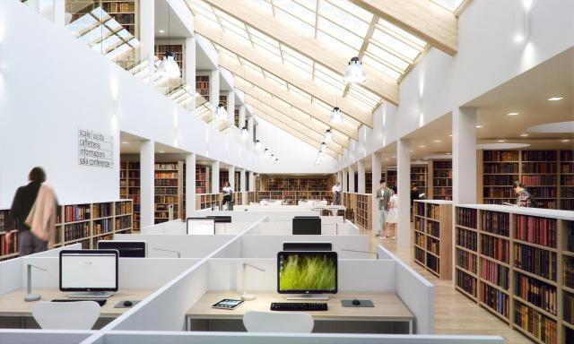 Mestre library by Filippo Scarso