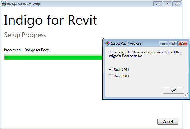 Selecting Revit versions